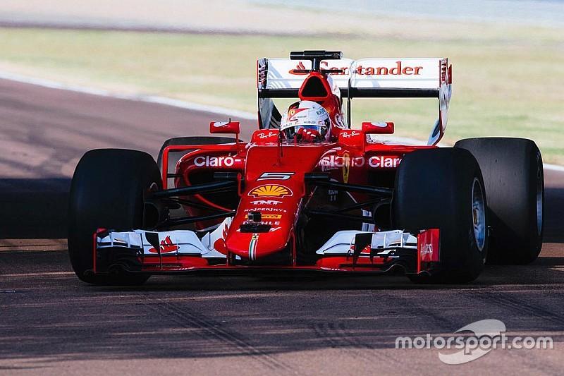 Record di Vettel a Fiorano con la SF15-T al debutto con le gomme larghe!