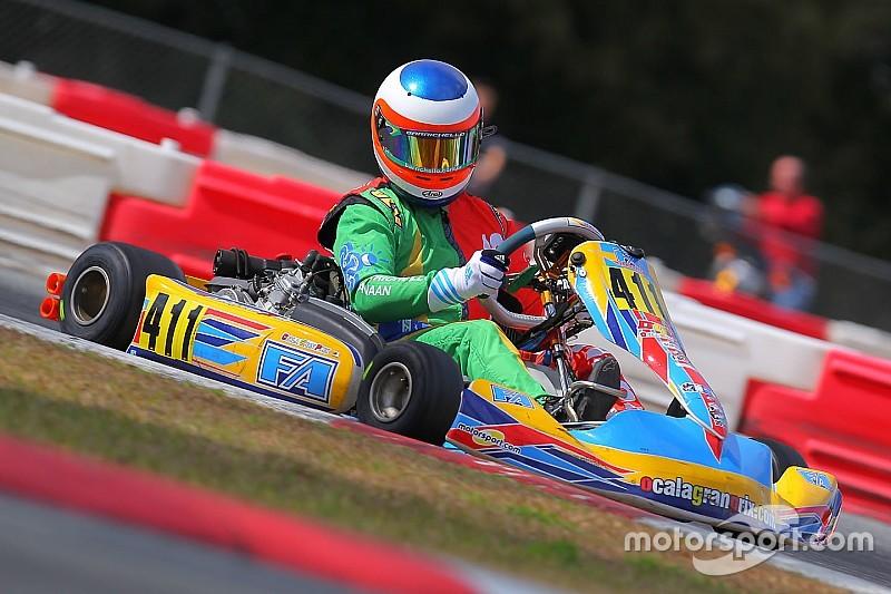 Rubens Barrichello neemt deel aan WK Karting