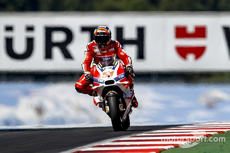 Michele Pirro sulla terza Ducati Desmosedici GP ufficiale al Red Bull Ring