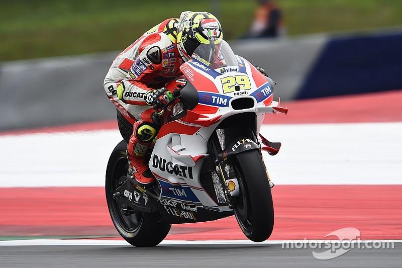 MotoGPオーストリア予選:イアンノーネがPP獲得。巻き返すヤマハ、ロッシが2番手