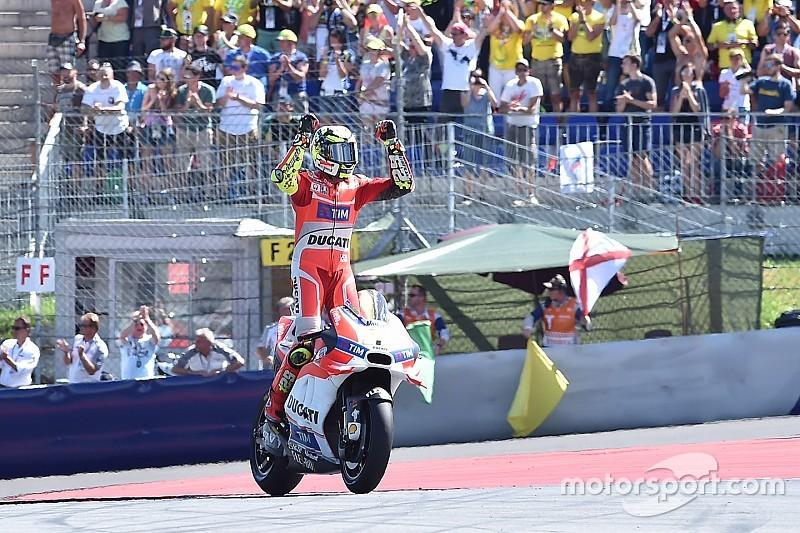 Iannone no se ablanda y logra su primer triunfo en MotoGP