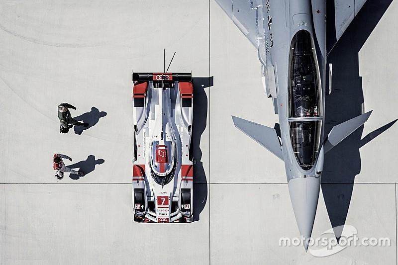 Bildergalerie: Audi R18 trifft auf Eurofighter Typhoon