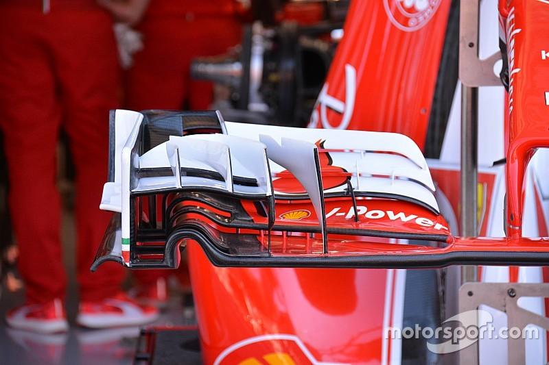 Технический брифинг: варианты переднего крыла Ferrari SF16-H