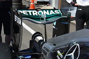 F1 Análisis Breve análisis técnico: alerón trasero 'cuchara' del Mercedes