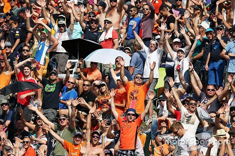 Podium-trio looft Verstappen-fans op Spa-Francorchamps