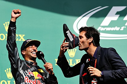 Webber fala de brincadeira com Ricciardo no pódio