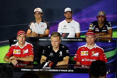 I piloti rendono omaggio a Felipe Massa nella conferenza stampa di Monza