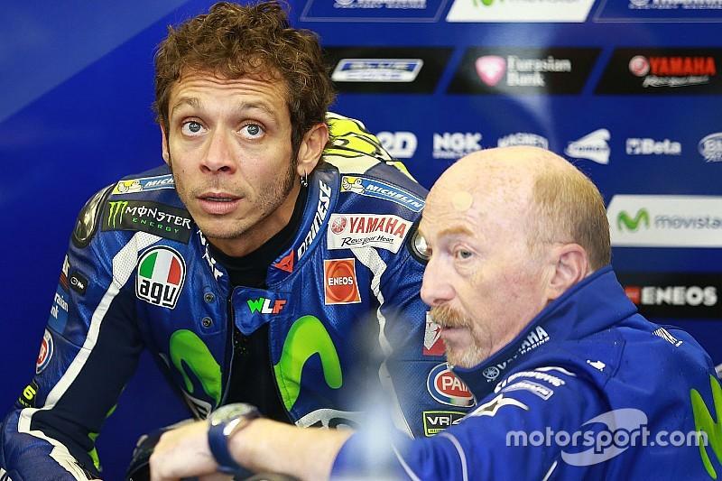 """Rossi na P2 in natte kwalificatie: """"Op een droge baan ben ik niet snel"""""""