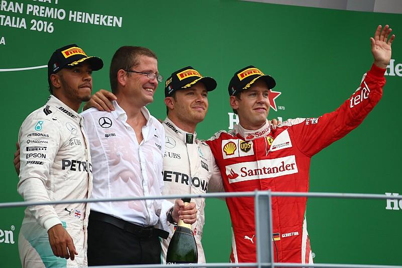 意大利大奖赛正赛:罗斯伯格获得两连胜,法拉利主场错失好局