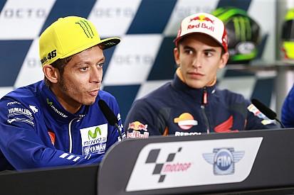 Ketegangan antara Marquez dan Rossi tak sebesar dulu