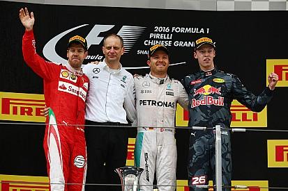 GP Tiongkok: Rosberg meraih kemenangan lagi setelah pertarungan seru di barisan belakang