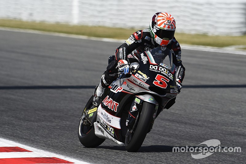 Moto2 Catalunya: Zarco pole position, Lowes terjatuh