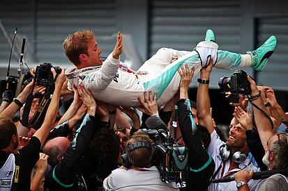 GP Italia: Rosberg raih kemenangan di Monza, Hamilton bermasalah saat start