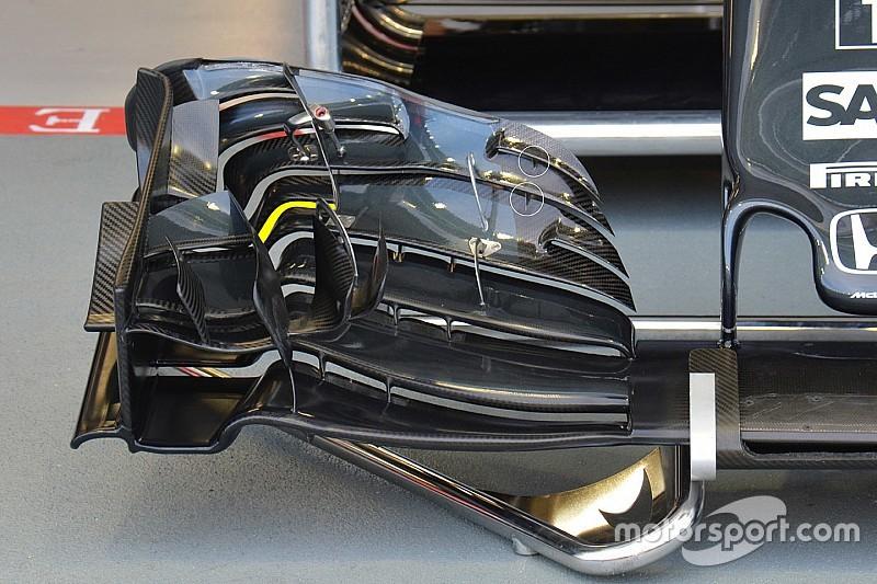 レースごとにフロントウイングを変更するマクラーレン。シンガポール版も登場