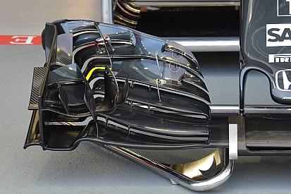 Analisis teknis ringkas: Sayap depan McLaren