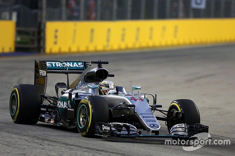 Hamilton se olvida de los problemas de Singapur 2015