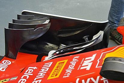 Технический брифинг: зубчатые кромки крыльев Ferrari