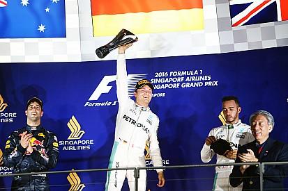 ترتيب بطولة العالم للفورمولا واحد بعد سباق سنغافورة