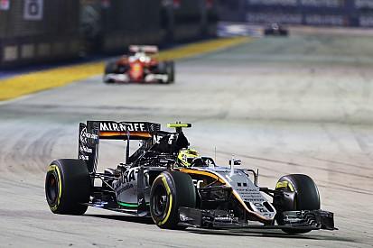 """بيريز: قدّمت في سنغافورة """"أحد أفضل سباقاتي في الفورمولا واحد"""""""