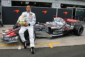 La primera prueba de Hamilton en un F1