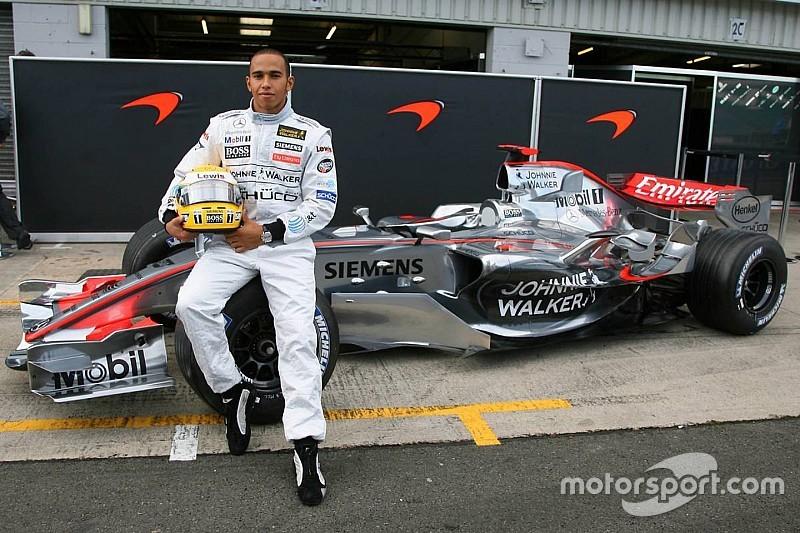 El primer test de Hamilton en un F1