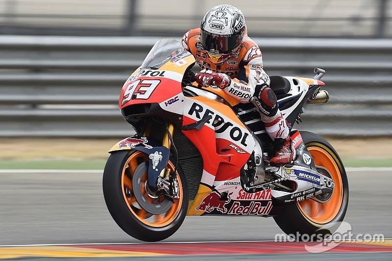 MotoGPアラゴン初日:ホンダが1日目を制圧。FP1マルケス、FP2ペドロサがトップ