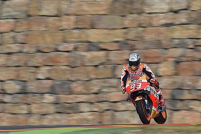 MotoGP Aragon: Kazalarla dolu 3. antrenmanın lideri Marquez