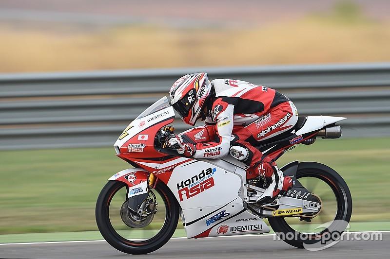 尾野弘樹「レースペースは良いアベレージを刻めている」:Moto3アラゴン予選