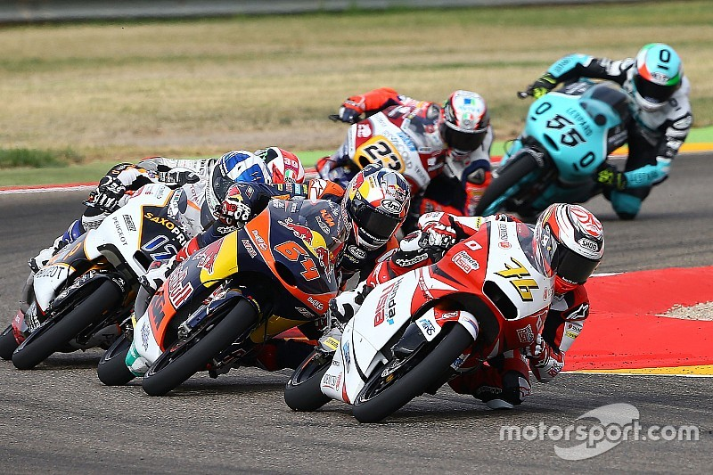 尾野弘樹「フロントの振動が激しく、転ばないように走るのが精一杯だった」:Moto3アラゴン