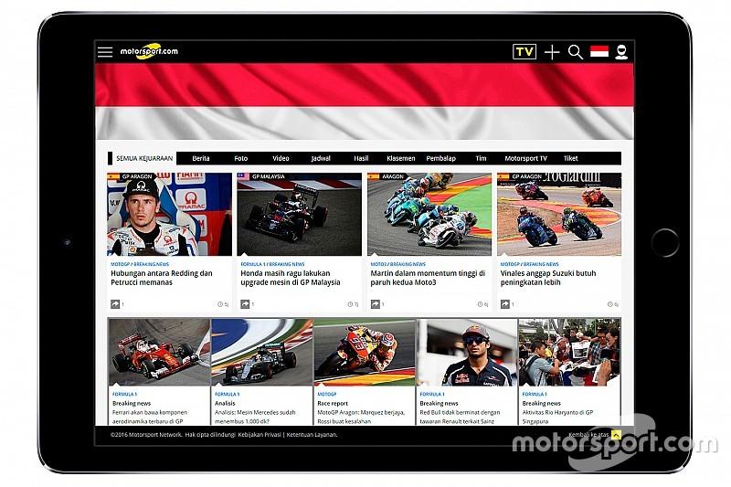 Motorsport.com expande operação com edição na Indonésia