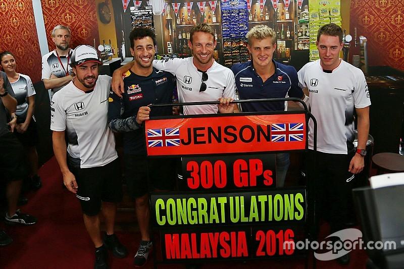 Bildergalerie: So feiert Jenson Button seinen 300. Grand Prix