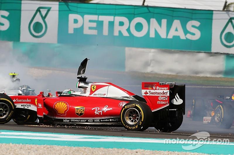 """Verstappen pointe l'attitude """"ridicule"""" de Vettel au premier virage"""