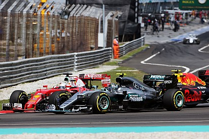 Vettel señala a Verstappen en el incidente de la primera curva