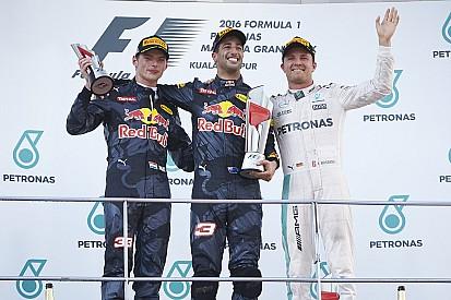 ترتيب بطولة العالم للفورمولا واحد بعد سباق ماليزيا