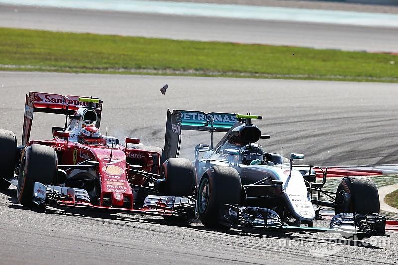 Raikkonen kehilangan 0,3 detik tiap lap usai kontak dengan Rosberg