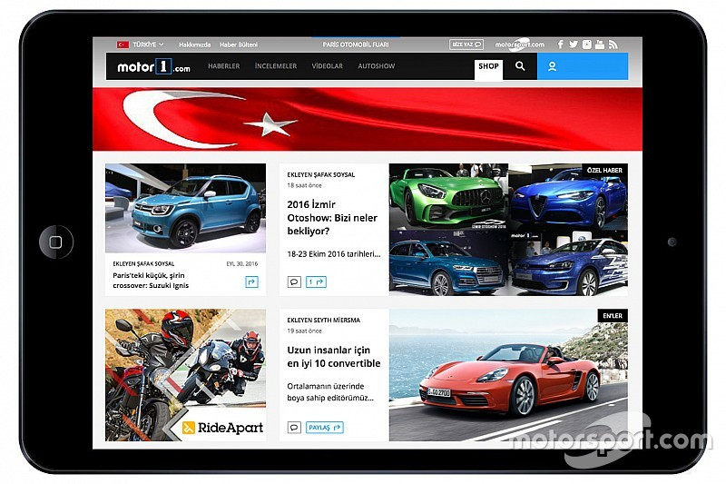 汽车资讯网站Motor1.com新增土耳其版