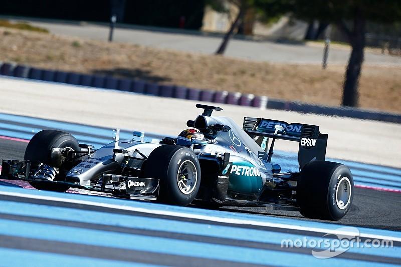 Erste Reifentests für 2017 von Lewis Hamilton und Nico Rosberg