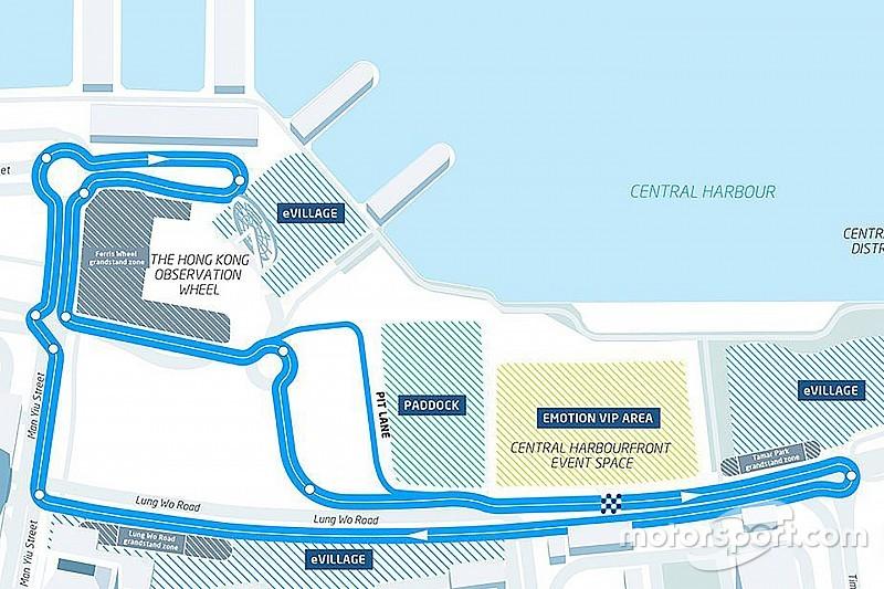 Los pilotos de Fórmula E ven peligrosa la primera chicana de Hong Kong