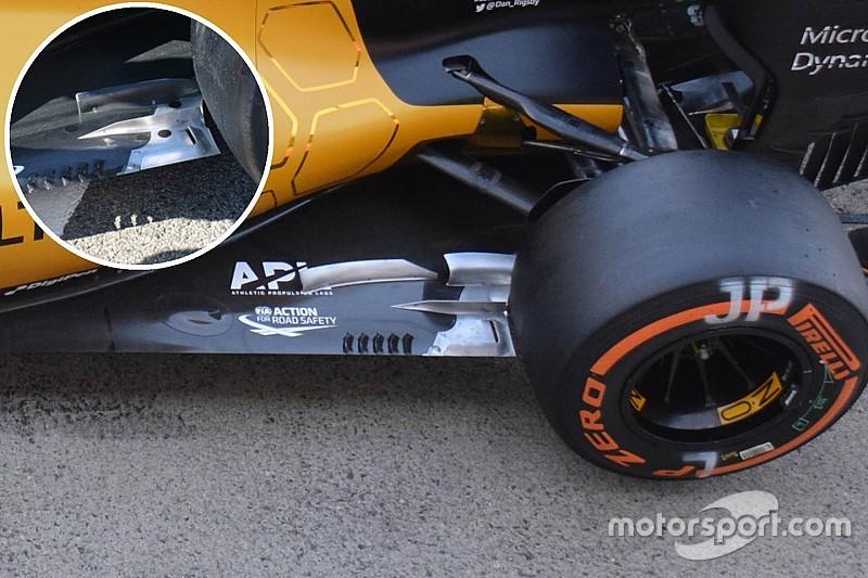 技术短文:雷诺RS16赛车底板