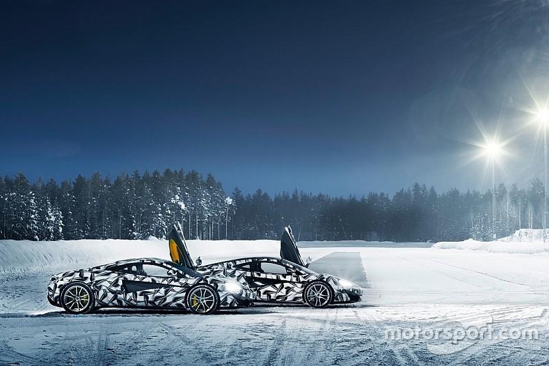 McLaren met ses bolides sur la glace