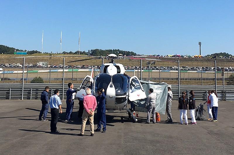 ロレンソ、日本GPのFP3でクラッシュ。CTスキャンのためヘリで病院に搬送