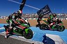 Sykes y Rea celebran el título de marcas de Kawasaki mientras se juegan su propio campeonato
