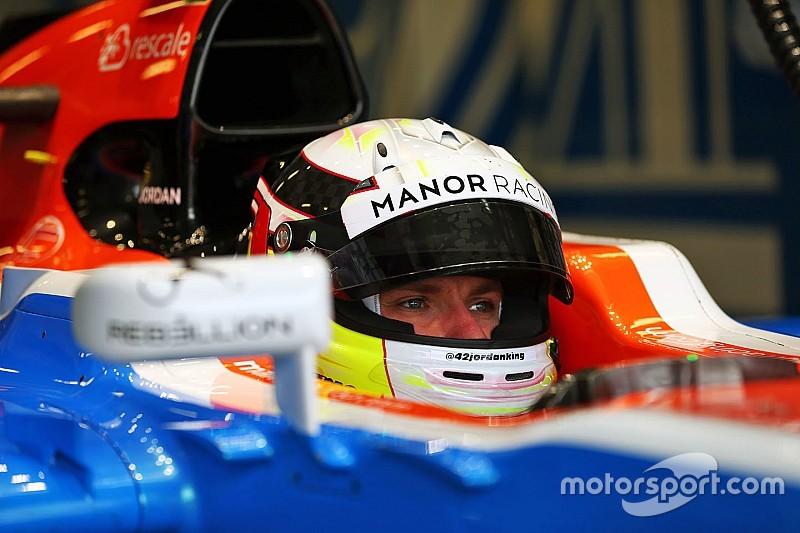 Jordan King en essais avec Manor à Austin