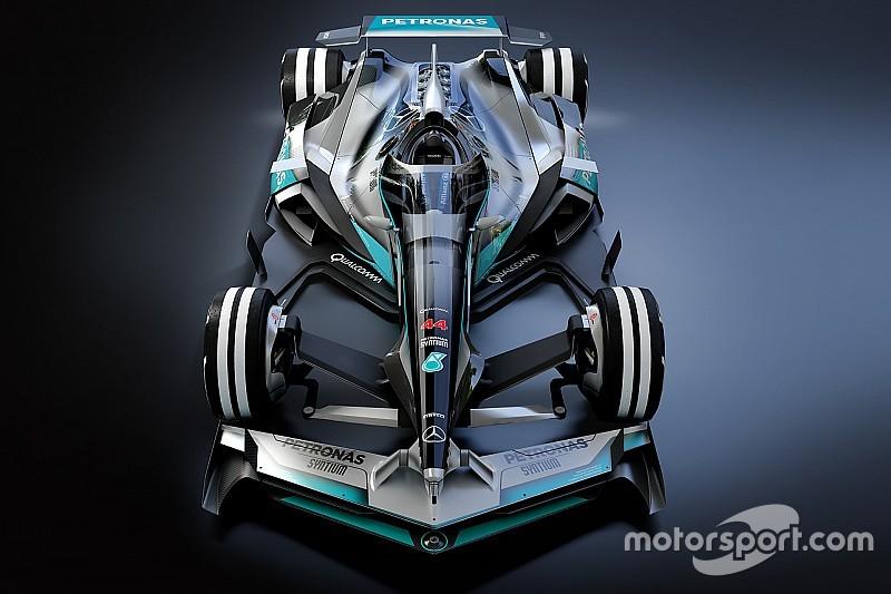 Futuristisch F1-ontwerp 2030: Mercedes