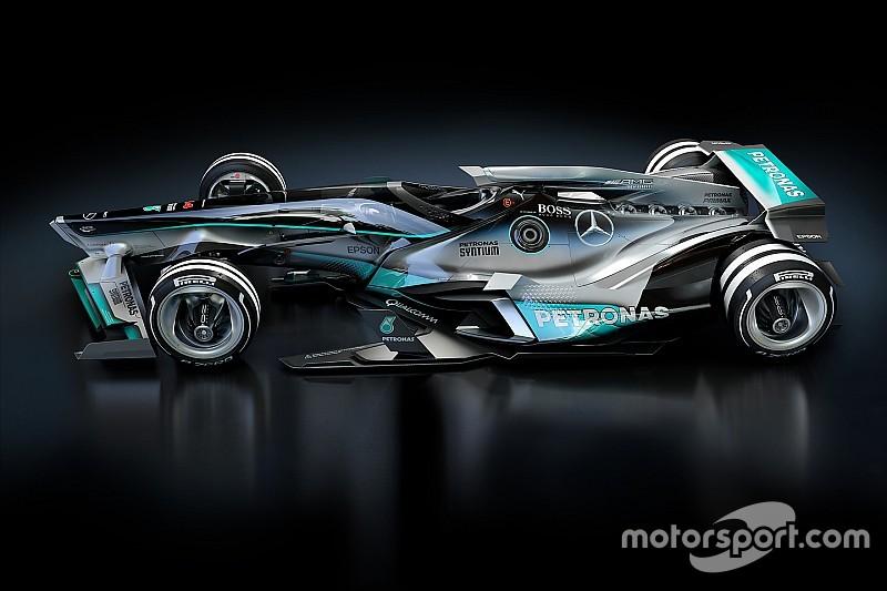 Designstudie: Formel-1-Auto von Mercedes im Jahr 2030