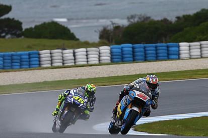 MotoGPオーストラリアGP:FP2 悪天候により、セッションが赤旗短縮