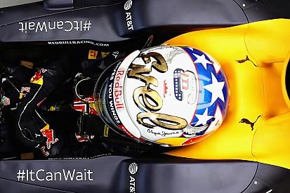 "Fotókon Ricciardo egyedi sisakja: ""Color me Lucky"""