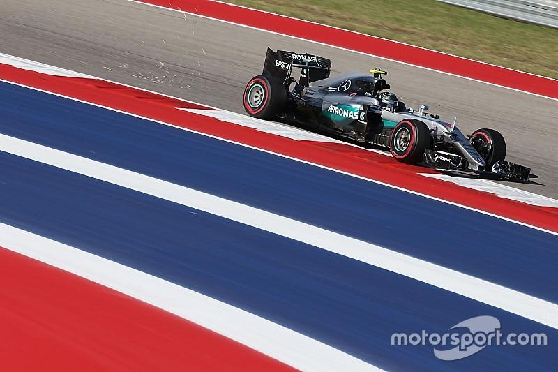 美国大奖赛FP2:赛道碎片引出红旗,罗斯伯格占据榜首