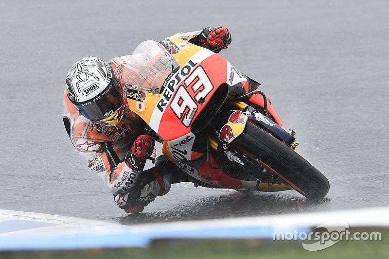 P1 Marquez in derde training GP Australië, Rossi en Lorenzo halen Kwalificatie 2 niet