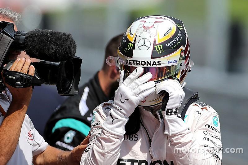 """Hamilton """"positif"""" et """"optimiste"""" après sa 58e pole position"""